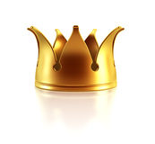 Isolated golden crown Royalty Free Stock Photos