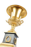 Isolated golden cup Royalty Free Stock Photos