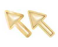 Isolated golden cursors Royalty Free Stock Photography