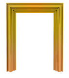Isolated golden decorative door frame Stock Photo