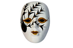 Isolated golden eyes mask Royalty Free Stock Photo