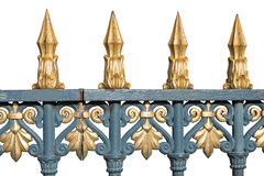 Isolated golden fence Royalty Free Stock Photography