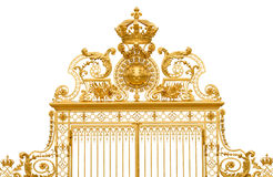 Isolated golden gate of Versailles palace Stock Image