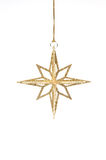 Isolated golden glitter christmas decoration Royalty Free Stock Image