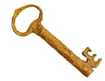 Isolated Golden Key stock image
