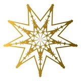 Isolated golden star shape Royalty Free Stock Photography