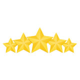 Isolated Golden Stars Rating Set, Vector Royalty Free Stock Photos