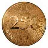 Isolated Golden Two Hundred Fifty Pounds Coin From Lebanon. An Isolated Golden Two Hundred Fifty Pounds Coin From Lebanon vector illustration