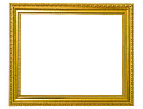 Isolated golden wooden Photo Frame Royalty Free Stock Photo