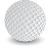Isolated Golf ball. Close up picture of golf ball Stock Photos