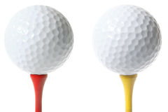 Isolated Golf Balls Stock Photos