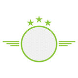Isolated golf emblem. With a ball, Vector illustration Stock Photography