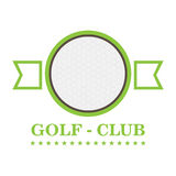 Isolated golf emblem. With a ball, Vector illustration Royalty Free Stock Image