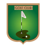 Isolated golf emblem. With a flag, Vector illustration Royalty Free Stock Photos