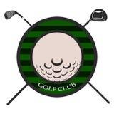 Isolated golf emblem. Golf emblem on a white background, Vector illustration Stock Image