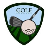 Isolated golf emblem. Golf emblem on a white background, Vector illustration Stock Images