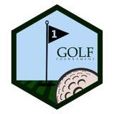 Isolated golf emblem. Golf emblem on a white background, Vector illustration Royalty Free Stock Photo