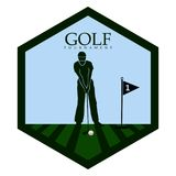 Isolated golf emblem. Golf emblem on a white background, Vector illustration Royalty Free Stock Image