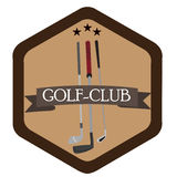 Isolated golf emblem. With a group of clubs, Vector illustration Stock Photography
