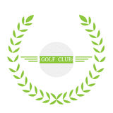 Isolated golf emblem. With a laurel wreath, Vector illustration Stock Image