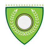 Isolated golf emblem. With a laurel wreath, Vector illustration Stock Photography