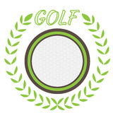 Isolated golf emblem. With a laurel wreath, Vector illustration Stock Photo