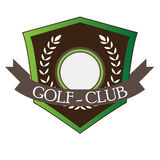 Isolated golf emblem. With a laurel wreath, Vector illustration Royalty Free Stock Image