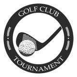 Isolated golf emblem. Isolated retro golf emblem on a white background, Vector illustration Royalty Free Stock Photos