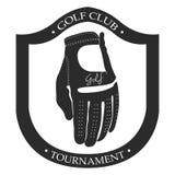 Isolated golf emblem. Isolated retro golf emblem on a white background, Vector illustration Royalty Free Stock Photo