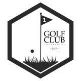 Isolated golf emblem Stock Photo