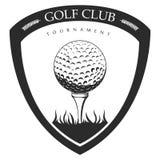 Isolated golf emblem Stock Photography