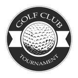 Isolated golf emblem. Isolated retro golf emblem on a white background, Vector illustration Stock Image
