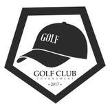 Isolated golf emblem. Isolated retro golf emblem on a white background, Vector illustration Stock Photography