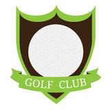 Isolated golf emblem. With a ribbon, Vector illustration Royalty Free Stock Image