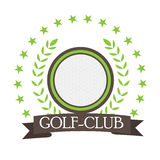 Isolated golf emblem. With a ribbon, Vector illustration Stock Image