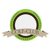 Isolated golf emblem. With a ribbon, Vector illustration Royalty Free Stock Photography