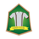 Isolated golf emblem. With a shirt, Vector illustration Royalty Free Stock Photography