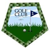 Isolated golf emblem Stock Image