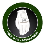 Isolated golf emblem Royalty Free Stock Photo
