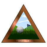 Isolated golf emblem Stock Photos