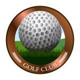 Isolated golf emblem Stock Images