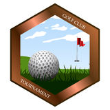 Isolated golf emblem. On a white background, Vector illustration Royalty Free Stock Photo