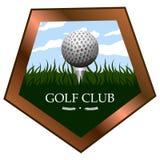 Isolated golf emblem Royalty Free Stock Photography
