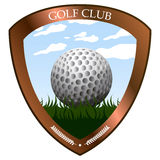 Isolated golf emblem. On a white background, Vector illustration Royalty Free Stock Images