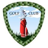 Isolated golf emblem. On a white background, Vector illustration Stock Photo