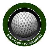 Isolated golf emblem. On a white background, Vector illustration Royalty Free Stock Photos