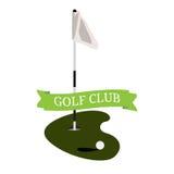 Isolated golf hole Stock Images