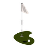 Isolated golf hole Royalty Free Stock Photos