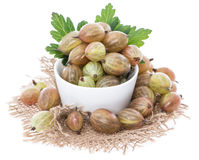 Isolated Gooseberries Royalty Free Stock Photography