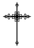 Isolated gothic black cross Stock Photography